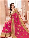 photo of Fancy Lace Border On Rani Party Wear Saree In Net