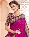 photo of Party Wear Art Silk Rani Color Traditional Saree