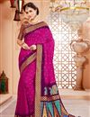 image of Party Wear Art Silk Rani Color Traditional Saree
