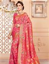 image of Party Wear Art Silk Pink Traditional Saree