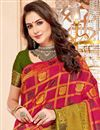 photo of Art Silk Designer Function Wear Crimson Color Fancy Saree