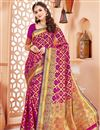 image of Party Wear Dark Magenta Art Silk Traditional Saree