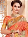 photo of Traditional Salmon Color Function Wear Saree In Art Silk
