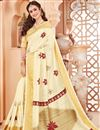 image of Art Silk Function Wear Beige Designer Fancy Saree