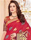 photo of Art Silk Function Wear Red Designer Fancy Saree