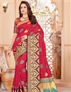 image of Designer Function Wear Red Fancy Saree In Art Silk