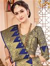 photo of Navy Blue Art Silk Wedding Function Wear Saree