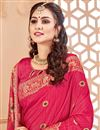 photo of Party Wear Crimson Color Traditional Saree In Art Silk