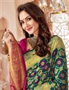 photo of Art Silk Traditional Function Wear Saree In Teal