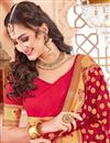 photo of Function Wear Crimson Color Designer Art Silk Fancy Saree