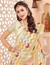 photo of Art Silk Off White Traditional Party Wear Saree