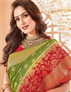 photo of Party Wear Green Traditional Art Silk Saree