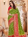 image of Party Wear Green Traditional Art Silk Saree