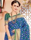 photo of Traditional Blue Function Wear Art Silk Saree