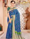 image of Traditional Blue Function Wear Art Silk Saree