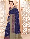 image of Navy Blue Function Wear Designer Art Silk Fancy Saree