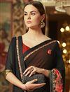 photo of Designer Wedding Wear Black Georgette Traditional Saree