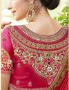 photo of Fancy Wedding Wear Satin Red Designer Embellished Saree