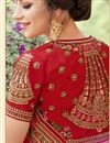 photo of Embellished Wedding Wear Georgette Pink Saree