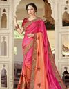 image of Pink Designer Embroidered Georgette Fancy Function Wear Saree