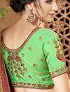 photo of Wedding Special Function Wear Georgette Embroidered Fancy Saree