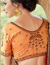 photo of Wedding Special Embellished Wedding Wear Georgette Maroon Saree