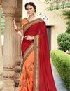 image of Wedding Special Embellished Wedding Wear Georgette Maroon Saree