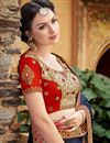 photo of Wedding Function Wear Satin Designer Embroidered Saree
