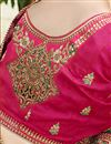 photo of Designer Function Wear Fancy Embroidered Saree In Satin