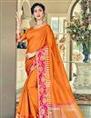 image of Wedding Function Wear Traditional Cotton Silk Saree
