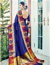 photo of Cotton Silk Designer Function Wear Saree With Work