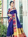 image of Cotton Silk Designer Function Wear Saree With Work