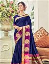 image of Wedding Function Wear Cotton Silk Saree With Weaving Work
