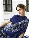 photo of Embroidery Work Traditional Fancy Saree In Navy Blue