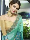 photo of Embellished Function Wear Saree In Sea Green