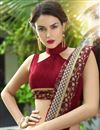 photo of Fancy Embroidery Work Traditional Saree In Maroon