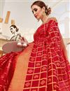 photo of Jacquard Work Art Silk Function Wear Traditional Fancy Saree In Red