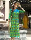 image of Rayon Printed Casual Wear Kurti In Green