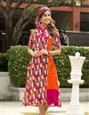 image of Multicolor Office Wear Casuak Kurti In Rayon