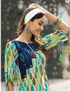 photo of Casual Style Printed Kurti In Rayon Green