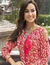 photo of Casual Wear Rayon Pink Printed Kurti