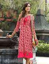image of Casual Wear Rayon Pink Printed Kurti