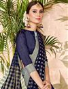photo of Navy Blue Cotton Silk Casual Function Wear Saree