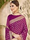 photo of Cotton Silk Traditional Burgundy Color Function Wear Saree