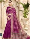 image of Cotton Silk Traditional Burgundy Color Function Wear Saree