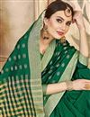 photo of Dark Green Cotton Silk Traditional Casual Function Wear Saree