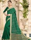 image of Dark Green Cotton Silk Traditional Casual Function Wear Saree