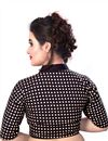 photo of Cotton Readymade Designer Blouse In Black