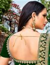 photo of Velvet Dark Green Color Designer Lehenga Choli With Embroidery Designs