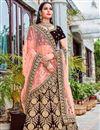 image of Maroon Color Embroidered Velvet Wedding Wear Lehenga Choli
